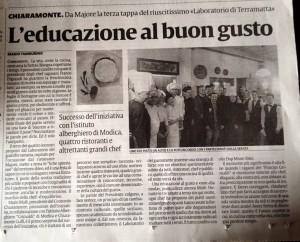 La Sicilia – L'educazione al buon gusto