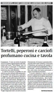 La Sicilia – Tortelli peperoni e carciofi profumano cucina e tavola