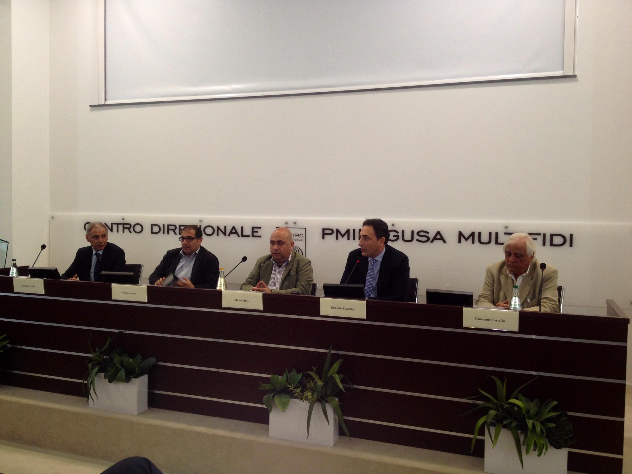 """Concorso 'Terra Matta', presidente Molè in conferenza stampa presso pmiRagusa: """"Stop alle polemiche e andiamo ad Expo per promuovere le nostre eccellenze"""""""